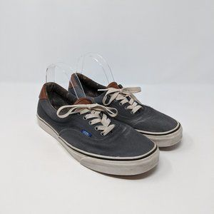 Vans Low Top Lace Up Canvas Leather Sneakers